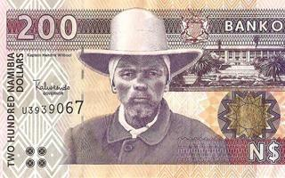 The 200 N$ note shows Hendrik Witbooi