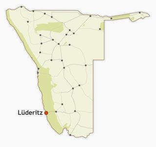 Lüderitz region map
