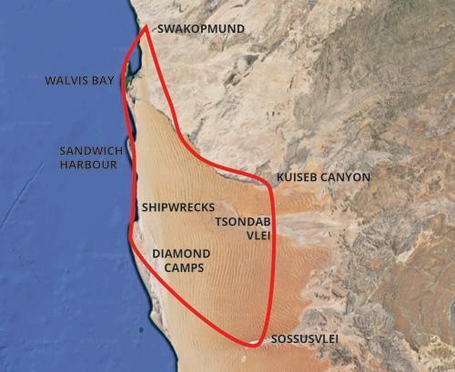 Sossusvlei Scenic Flight Map