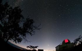 Zodiacal counterglow and IAS Observatory © IAS Observatory Hakos