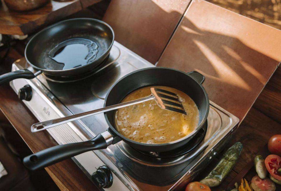 Frühstücksvorbereitung