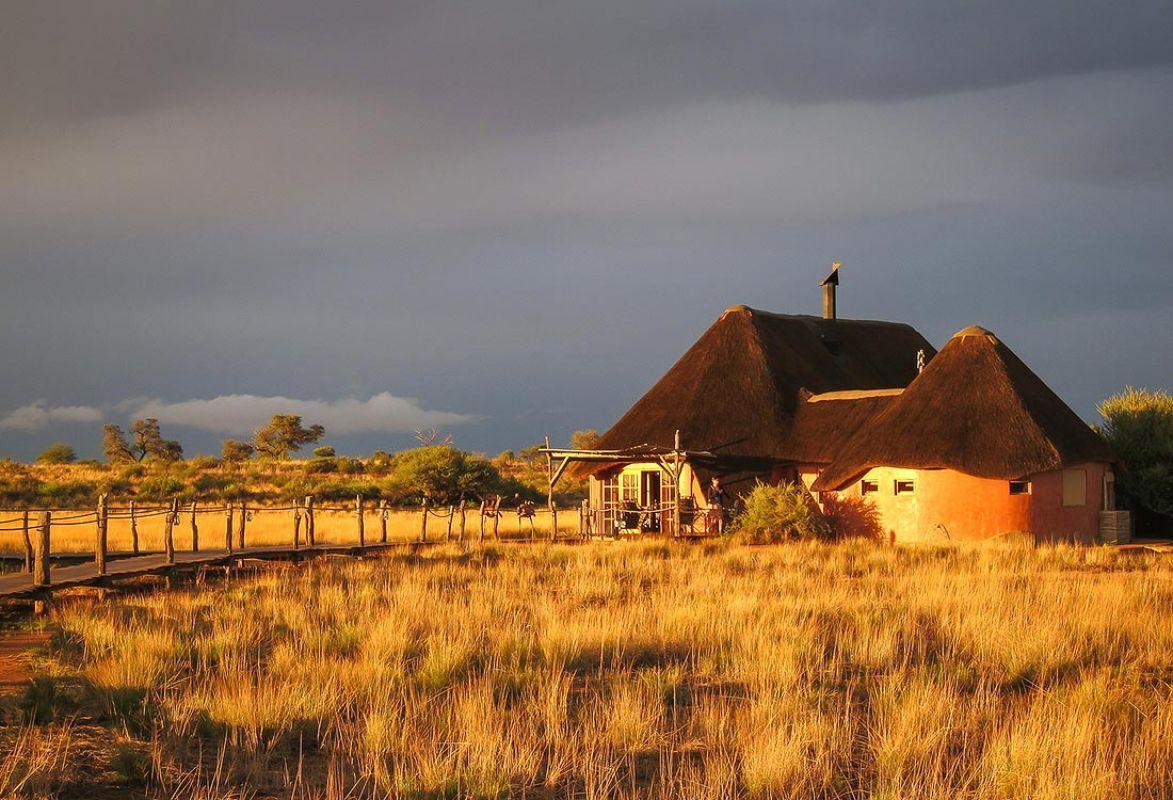 Ankunft Kalahari Red Dunes Lodge