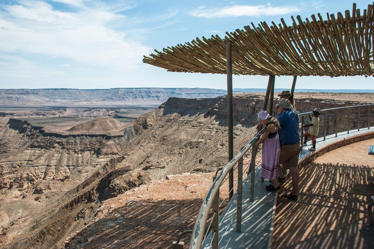 Viewpoint of the Fish River Canyon