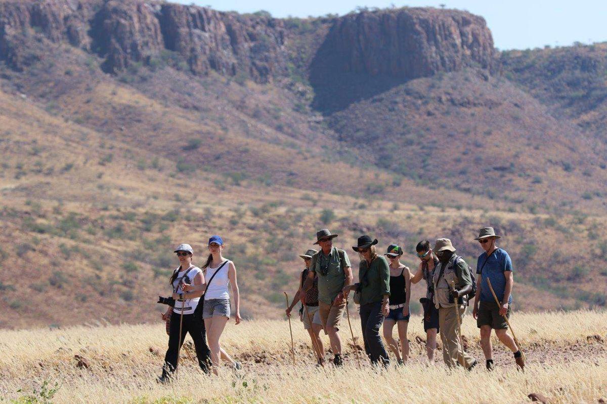 Etendeka Wanderung um das Etendeka Plateau