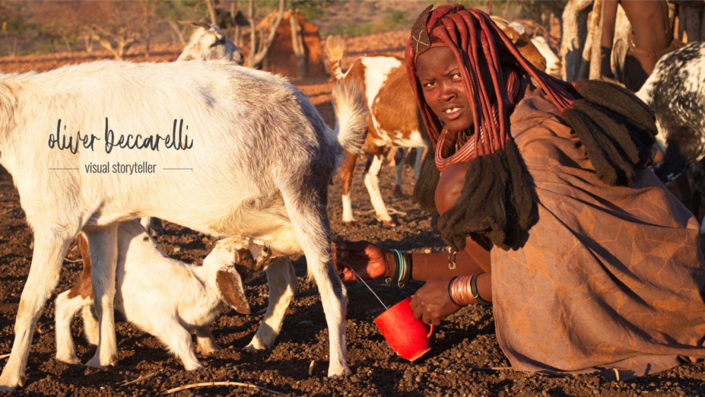 The daily work. Himbas love to drink the milk and use the butter for their beauty cream