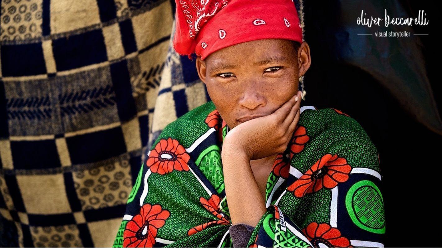Was kommt danach? Eine Frau des Volksstamms der San hofft auf bessere Zeiten nach Corona