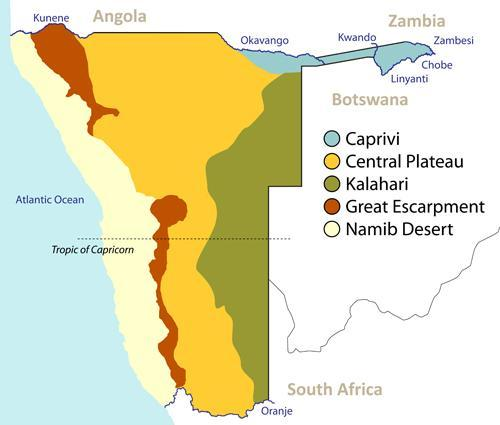 Namibias geography borders and location in africa geography map of namibia gumiabroncs Images