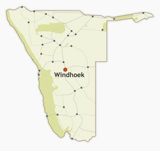 Windhoek map