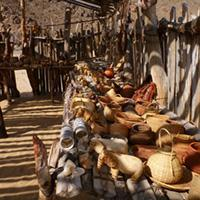 Souvenirs in a himba village